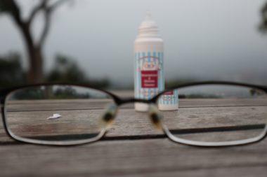 Cleaned Left Side Eyeglass