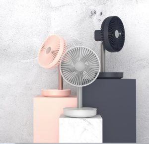 Desktop USB Charging Fan 3 color choices