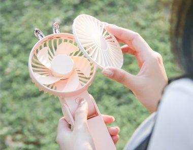 Handheld folding fan open cover